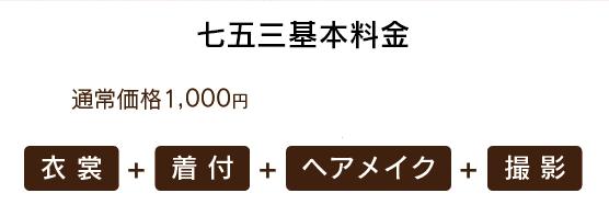 七五三基本料金1,000円